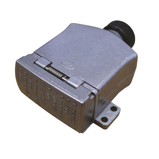 KT Cable Trailer Socket, Metal - Flat, 12 Pin, , scaau_hi-res