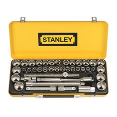 "Stanley Socket Set 1/2"" Drive Metric/SAE 40 Piece, , scaau_hi-res"