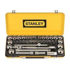 """Stanley Socket Set - 1/2"""" Drive, Metric & Imperial, 40 Piece, , scaau_hi-res"""
