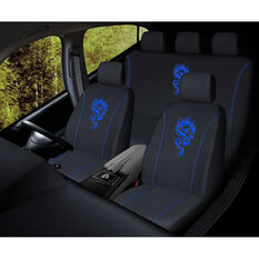 SCA Dragon Seat Cover Pack - Blue, Adjustable Headrests, Size 30 and 06H, Airbag Compatible, , scaau_hi-res