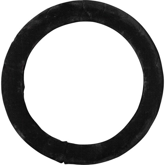 SCA Steering Wheel Cover - Acrylic Fur, Black, 380mm diameter, , scaau_hi-res