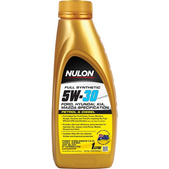 Nulon Full Synthetic Fuel Efficient Engine Oil - 5W-30 1 litre, , scaau_hi-res