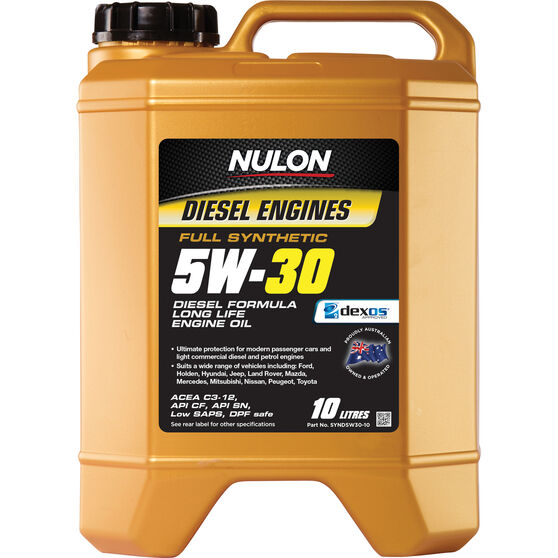Nulon Full Synthetic Long Life Diesel Engine Oil - 5W-30 10 Litre, , scaau_hi-res