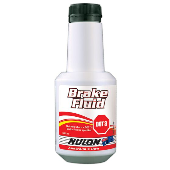 Nulon Brake Fluid DOT 3 500mL, , scaau_hi-res