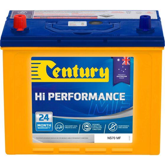 Century Hi Performance 4WD Battery NS70 MF, , scaau_hi-res