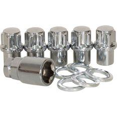 Calibre Wheel Nuts, Shank Lock, Chrome - MLN12150, 12mm x 1.5mm, , scaau_hi-res