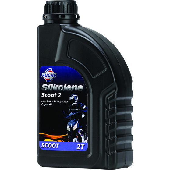 Silkolene Scoot 2 Low Smoke Scooter Oil 1 Litre, , scaau_hi-res