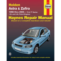 Haynes Car Manual Holden Astra TS, Zafira TT, 1998-2005 - 41710, , scaau_hi-res