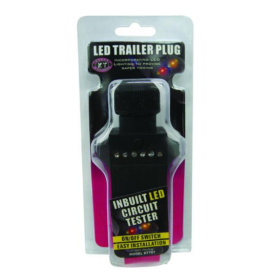Trailer Plug - 7 Pin Small Round, LED, , scaau_hi-res