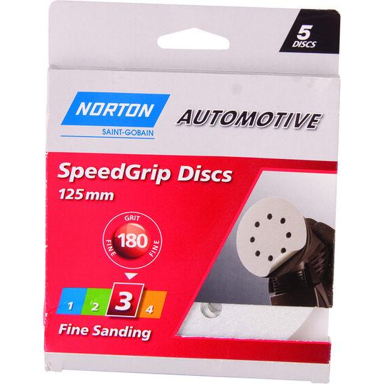Norton Speed Grip Disc 180 Grit 125mm 5 Pack, , scaau_hi-res
