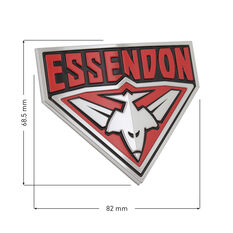 Essendon AFL Supporter Logo - 3D Chrome Finish, , scaau_hi-res