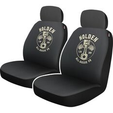 Sperling Holden Heritage Genuine Parts Seat Cover - Black and Beige, Adjustable Headrests, Airbag Compatible, , scaau_hi-res