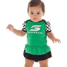 Supercars Babies Bodysuit - Green, , scaau_hi-res