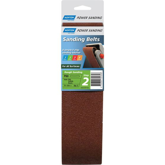 Norton Sanding Belt - 60 Grit, 2 Pack, , scaau_hi-res