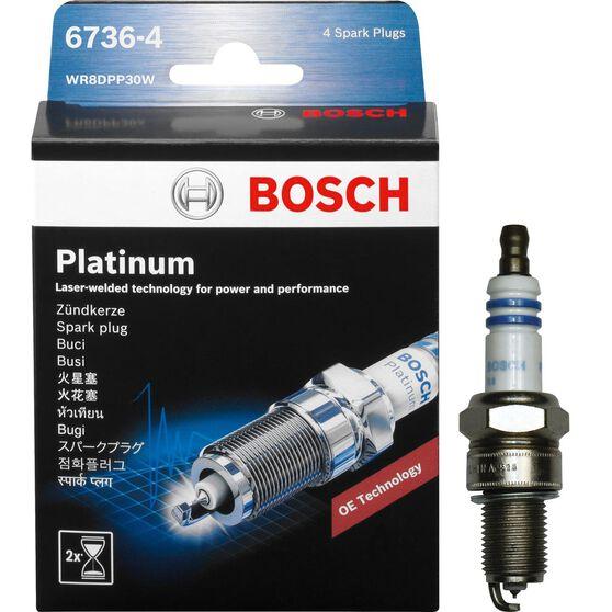 Bosch Platinum Spark Plug - 6736-4, 4 Pack, , scaau_hi-res