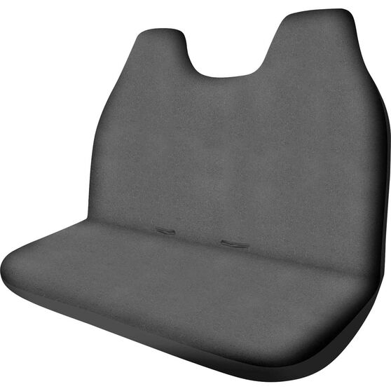 SCA Canvas Ute Seat Cover - Charcoal, Size 90, Front Bench (with built-in headrests), , scaau_hi-res