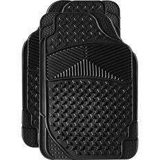 SCA Car Floor Mats - Rubber, Black, Front Pair, , scaau_hi-res