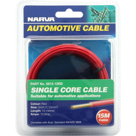 Narva Automotive Cable - Single Core Cable, 15 metres, 10 AMP, , scaau_hi-res