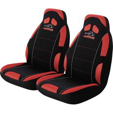 Performance Racing Seat Covers - Red, Built-in Headrests, Size 60, Front Pair, Airbag Compatible, , scaau_hi-res