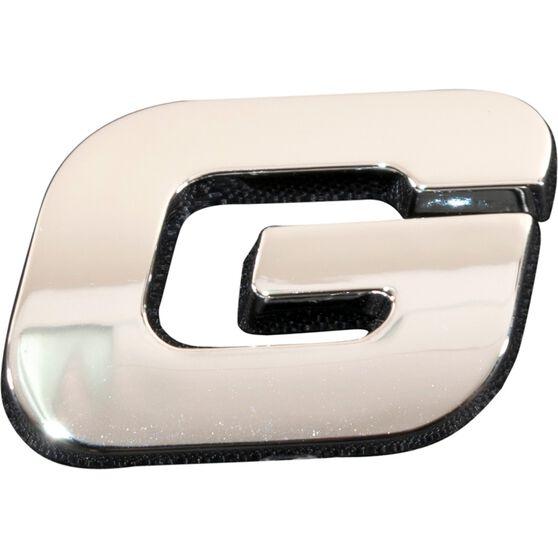 SCA 3D Chrome Badge Letter G, , scaau_hi-res