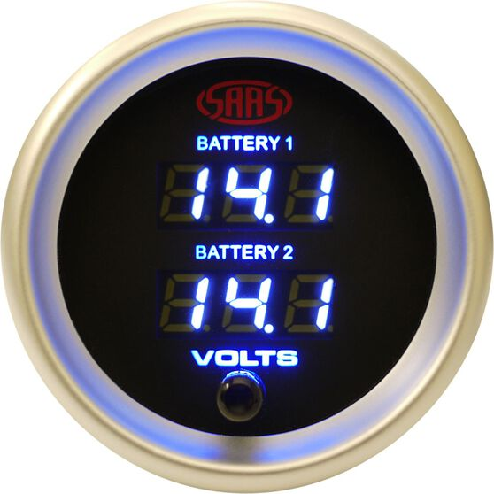Gauge - Black Face, 52mm, Digital Dual Volt, , scaau_hi-res