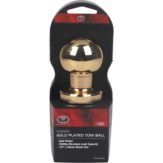 SCA Tow Ball - Gold Plated, 50mm, , scaau_hi-res