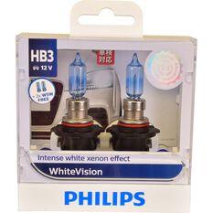 Philips WhiteVision Headlight Globe - 60W, HB3, , scaau_hi-res