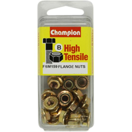 FLANGE NUTS METRIC M6 X 1.00 CHAMPION, , scaau_hi-res
