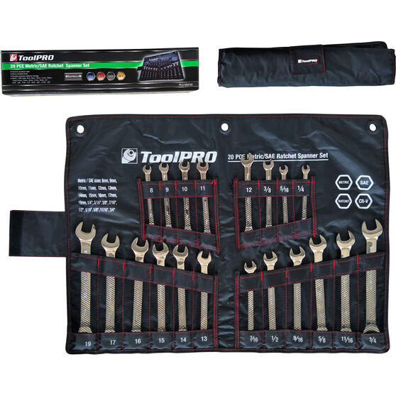 ToolPRO Spanner Set - 20 Piece, Metric and Imperial, , scaau_hi-res