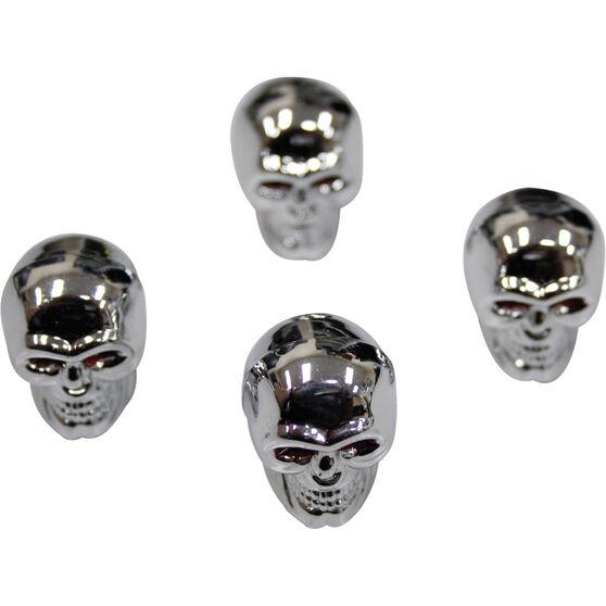 SCA Valve Cap Set - Silver Skull, , scaau_hi-res