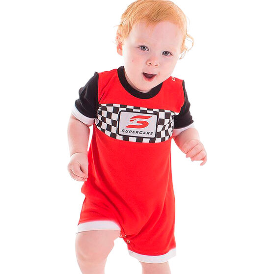 Supercars Babies Short Coverall - Red, , scaau_hi-res