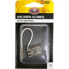 SCA Headlight Globe - H3, 12V, 100W, , scaau_hi-res