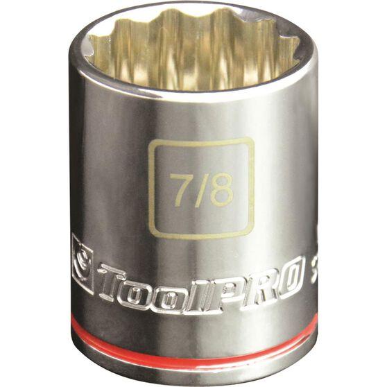 ToolPRO Single Socket - 1 / 2 inch Drive, 7 / 8 inch, , scaau_hi-res