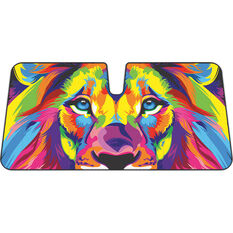 Colourful Lion Sunshade Fashion Accordion Front, , scaau_hi-res