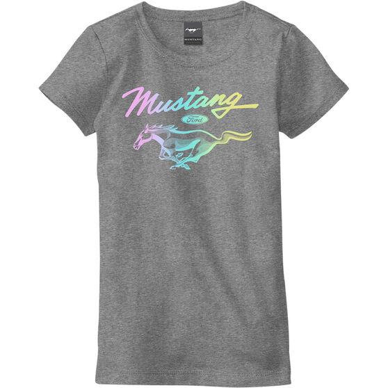 Mustang Girls T-Shirt Grey, , scaau_hi-res