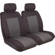 Imperial Seat Covers - Black, Front Pair, Adjustable Headrests, Size 30, , scaau_hi-res