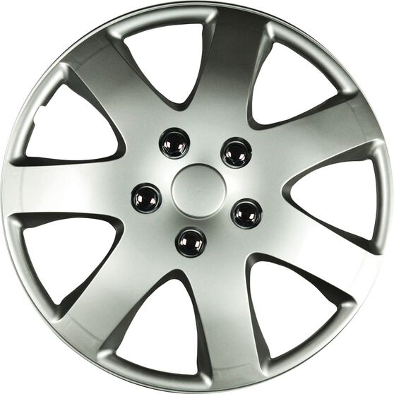 Best Buy Wheel Covers - Compass, 16 inch, Silver, 4 Piece, , scaau_hi-res