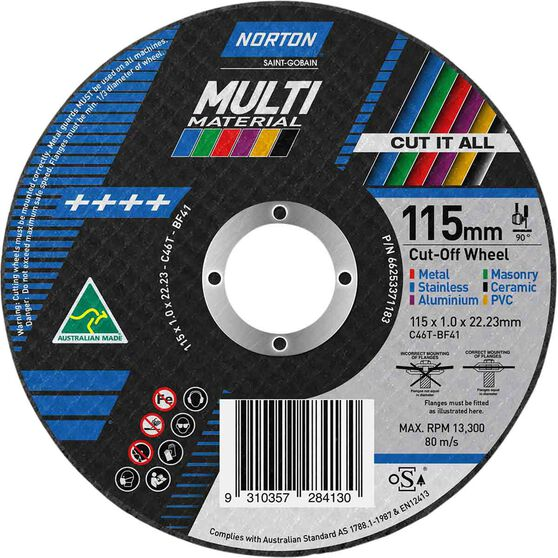 Norton Multi Purpose Grinding Disc - 115mm, , scaau_hi-res