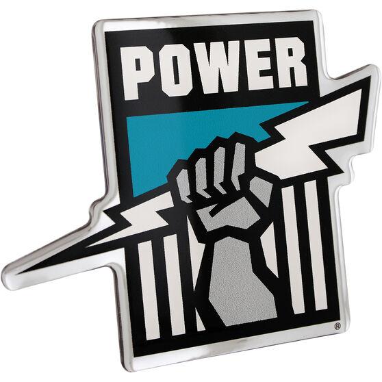 Port Adelaide AFL Supporter Logo - Lensed Chrome Finish, , scaau_hi-res