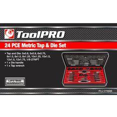 ToolPRO Tap and Die Set - Metric, 24 Piece, , scaau_hi-res