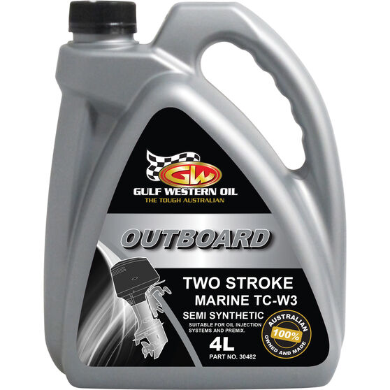 Gulf Western TC-W3 2 Stroke Outboard Engine Oil 4 Litre, , scaau_hi-res