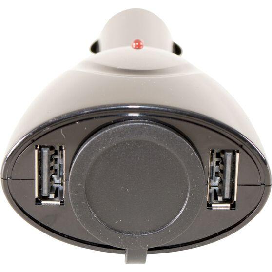SCA Socket + Twin USB Adaptor -12V, , scaau_hi-res