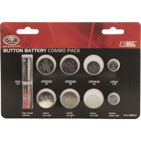Button Battery Combo Pack - 10 Pack Assorted, , scaau_hi-res
