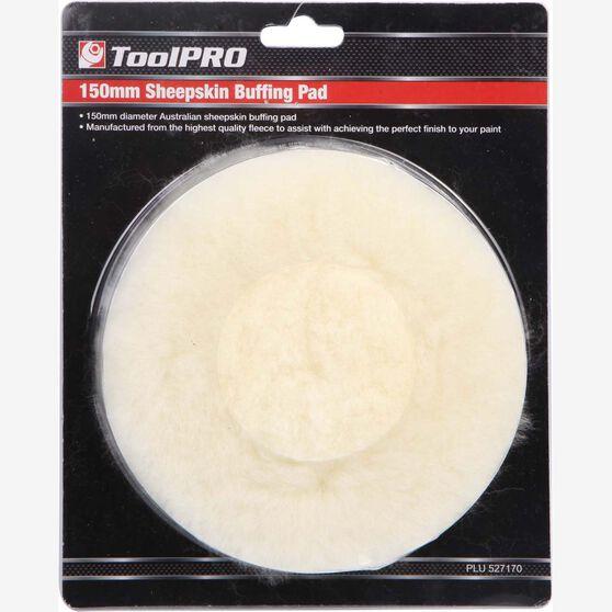 ToolPRO Sheepskin Buff Pad - 150mm, 6 inch, , scaau_hi-res