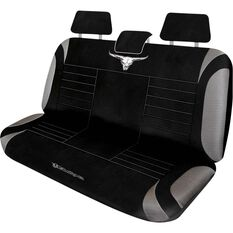 Metallic Seat Cover - Silver, Adjustable Headrests, Size 06H, Rear Seat, , scaau_hi-res