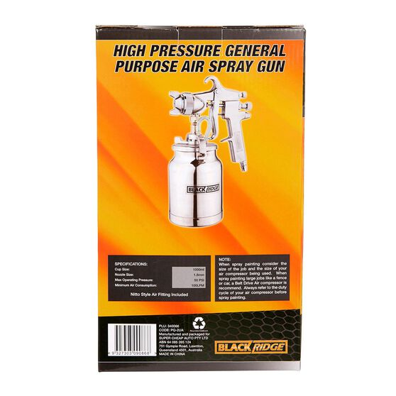 Blackridge High Pressure Air Spray Gun - 1000mL, , scaau_hi-res