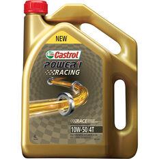 Castrol Power 1 Racing Motorcycle Oil, 4 Stroke - 10W-50, 4 Litre, , scaau_hi-res
