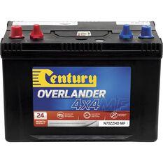 Century 4WD Battery - N70ZZHD MF,  720CCA, , scaau_hi-res