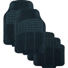 SCA Defend Car Floor Mats - Rubber, Black, Set of 4, , scaau_hi-res