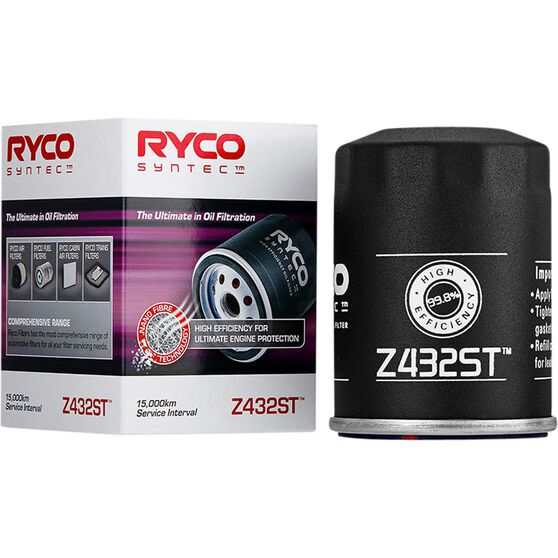 Ryco Syntec Oil Filter Z432ST (Interchangeable with Z432), , scaau_hi-res